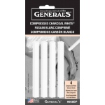 General White Compressed Charcoal Sticks
