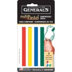 General's® MultiPastel® Compressed Sticks Primary: Multi, Stick, (model 9405ABP), price per set
