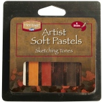 Heritage Arts™ Sketching Tones Artist Soft Pastel Set: Multi, Stick, (model ASP6LG), price per set