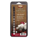 Heritage Arts™ Gray Tones Artist Soft Pastel Set: Black/Gray, White/Ivory, Stick, Soft, (model ASP12GT), price per set