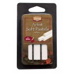 Heritage Arts™ White Artist Soft Pastel 3-Pack Set: White/Ivory, Stick, Soft
