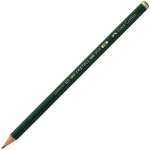 Faber-Castell® 9000 Black Lead Pencil F: Black/Gray, F, (model FC119010), price per dozen (12-pack)