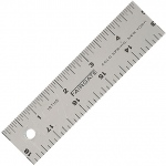 "Fairgate® 18"" Cork-Back Aluminum Ruler: Metallic, Aluminum, 18"", General Purpose, (model CR18), price per each"