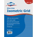 "Alvin® Alva-Line Isometric Grid Pad 11"" x 17"": Isometric, 50 Sheets, 11"" x 17"", Tracing, 16 lb, (model 6855ISO-7), price per 50 Sheets pad"