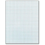 "Roaring Spring Scholastic 4"" x 4"" Quad Ruled Pad: Glue Bound, White/Ivory, Pad, 4"" x 4"", 50 Sheets, 8 1/2"" x 11"", (model ROA150), price per each"
