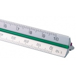 "Alvin 4"" Mini Aluminum Engineer Triangular Scale"