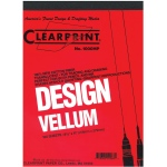 "Clearprint® 1000H Series 8.5 x 11 Unprinted Vellum 100-Sheet Pack: Pad, Unprinted, 100 Sheets, 8 1/2"" x 11"", 16 lb, (model CP10201510), price per 100 Sheets"