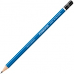 Lumograph® Drawing Pencil B: Black/Gray, B, Drawing, (model 100-B), price per dozen (12-pack)
