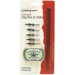 Manuscript Leonardt Dip Pen & Nibs Calligraphy Ornamental Set: Nibs Included, 1mm, 2mm, 3mm, 4mm, 5mm, Calligraphy, (model MDP2096), price per set