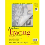 "Strathmore® 300 Series 14"" x 17"" Tape Bound Tracing Pad: Tape Bound, Pad, 50 Sheets, 14"" x 17"", Smooth, 25 lb"