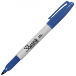 Sharpie® Fine Point Blue Permanent Marker: Blue, Fine Nib, (model SN30003), price per each