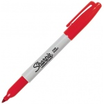 Sharpie® Fine Point Red Permanent Marker: Red/Pink, Fine Nib, (model SN30002), price per each