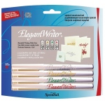 Speedball® Elegant Writer® Calligraphy 4-Color Marker Set: Multi, Dye-Based, Broad Nib, Fine Nib, Medium Nib, Calligraphy, (model S2886), price per set