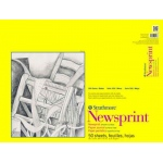 "Strathmore® 300 Series 18"" x 24"" Smooth Tape Bound Newsprint Pad: Tape Bound, White/Ivory, Pad, 50 Sheets, 18"" x 24"", Smooth, Newsprint, 32 lb, (model ST307-18), price per 50 Sheets pad"