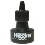 Higgins® Waterproof Color Drawing Ink Blue: Blue, Bottle, Dye-Based, 1 oz, Waterproof, (model SN44108), price per each