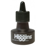 Higgins® Waterproof Color Drawing Ink Brown: Brown, Bottle, Dye-Based, 1 oz, Waterproof, (model SN44116), price per each
