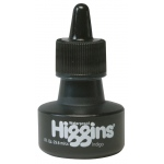 Higgins® Waterproof Color Drawing Ink Indigo: Blue, Bottle, Dye-Based, 1 oz, Waterproof, (model SN44117), price per each