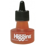 Higgins® Waterproof Color Drawing Ink Yellow: Yellow, Bottle, Dye-Based, 1 oz, Waterproof, (model SN44205), price per each