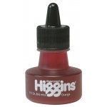 Higgins® Waterproof Color Drawing Ink Orange: Orange, Bottle, Dye-Based, 1 oz, Waterproof, (model SN44206), price per each