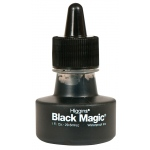 Higgins® Black Magic® Waterproof Ink: Black/Gray, Bottle, Pigment, 1 oz, Waterproof, (model SN44011), price per each