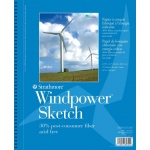 "Strathmore® Windpower™ 5.5"" x 8.5"" Wire Bound Sketch Pad: Wire Bound, White/Ivory, Pad, 70 Sheets, 5 1/2"" x 8 1/2"", 60 lb"
