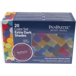 PanPastel® Ultra Soft Painting Pastels Extra Dark Shade 20-Set: Multi, Pan, Ultra Soft, (model PP30207), price per set