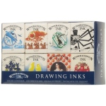 Winsor & Newton™ Drawing Ink Introductory Set: Multi, Bottle, 14 ml, Drawing Ink