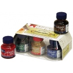 Winsor & Newton™ Calligraphy Ink Introduction Set: Multi, Bottle, 30 ml, Calligraphy