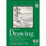 "Strathmore® 400 Series 14"" x 17"" Wire Bound Recycled Drawing Pad: Wire Bound, White/Ivory, Pad, 24 Sheets, 14"" x 17"", Medium, Recycled Drawing, 80 lb, (model ST443-14), price per 24 Sheets pad"