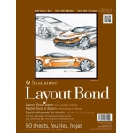 "Strathmore® 400 Series 11"" x 14"" Glue Bound Layout Bond Pad: Glue Bound, White/Ivory, Pad, 50 Sheets, 11"" x 14"", Layout Bond, 16 lb"