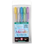 Gelly Roll® Metallic Gel Pen 5-Pack Hot Metallics: Metallic, Multi, Gel, 1mm, (model 57373), price per set