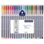 Staedtler® Triplus® Fineliner Pen 20-Color Set: Multi, Dye-Based, .3mm, Fine Nib
