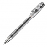 Pilot®  G-Tec-C Gel Pen Black .4mm: Black/Gray, Gel, .4mm, Fine Nib, Ultra Fine Nib, (model GTC4-BLK), price per each