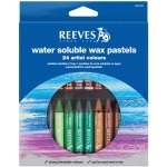 Reeves™ Water Soluble Wax Pastel 24-Color Set: Multi, Stick, Wax, (model 4890586), price per set