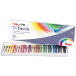 Pentel® Oil Pastel 25-Color Set: Multi, Stick, Oil, (model PHN25), price per set