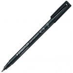 Lumocolor® Permanent Fine Black Marker: Black/Gray, Fine Nib, (model 318-9), price per each