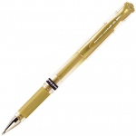 Uni-Ball® Gel Impact™ Gold Pen: Metallic, Gel, 1mm, Bold Nib, Rollerball, (model SN153G), price per each