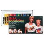Pentel® Fabric Fun Pastel Dye Stick Set: Multi, Dye-Based, Fabric, (model PTS15), price per set