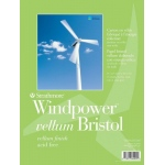 "Strathmore® Windpower™ 11 x 14 Vellum Tape Bound Bristol Pad: Tape Bound, White/Ivory, Pad, 15 Sheets, 11"" x 14"", 100 lb, (model ST642-111), price per 15 Sheets pad"
