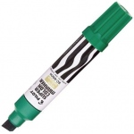 Pilot®  Super Color Jumbo Green Permanent Marker: Green, Refillable, Chisel Nib, (model SC6600-G), price per each