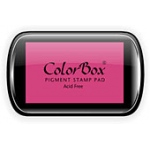 ColorBox® Full Size Ink Pad Pink: Red/Pink, Pad, Pigment, Full Size Rectangle, (model CS15033), price per each