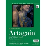 "Strathmore® Artagain® 400 Series 6"" x 9"" Coal Black Glue Bound Pad: Glue Bound, Black/Gray, Pad, 24 Sheets, 6"" x 9"", 60 lb"