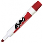 Expo® Dry-Erase Broad-Tip Marker Red: Red/Pink, Chisel Nib, (model SN830-R), price per each