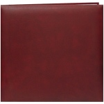 "Pioneer® 12"" x 12"" Scrapbook Burgundy: Red/Pink, Leatherette, 10 Page Protectors, 12"" x 12"", (model MB10-BR), price per each"