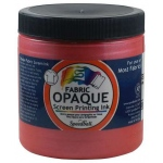 Speedball® 8 oz. Opaque Fabric Screen Printing Ink Raspberry: Red/Pink, Jar, Fabric, 8 oz, Screen Printing
