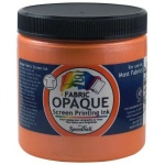 Speedball® 8 oz. Opaque Fabric Screen Printing Ink Sherbet: Orange, Jar, Fabric, 8 oz, Screen Printing, (model 4809), price per each