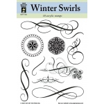 "Hot Off the Press Clear Acrylic Stamp Set Winter Swirls: Acrylic, No, 5 1/2"" x 7"", (model HOTP1004), price per each"