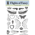 "Hot Off the Press Clear Acrylic Stamp Set Flights Of Fancy: Acrylic, No, 5 1/2"" x 7"""