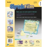 "Grafix® 8 1/2"" x 11"" Clear Shrink Film: Clear, Sheet, 8 1/2"" x 11"", Film"