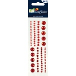 "Blue Hills Studio™ ColorStories™ Adhesive Gems Red: Red/Pink, Gem, 2"" x 5 3/4"", Dimensional"